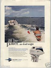 1962 PAPER AD Bundy 500cc Italy Italian Outboard Motor 30 HP Water Ski Boat