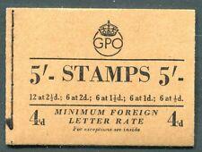 Great Britain - 1953 - 5/- Wilding Booklet - Scott BK67 - SG# H3 - NH