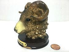 "Vintage Rams Head Bust Table Decorative Figurine/Sculpture 3.75"" Tall"