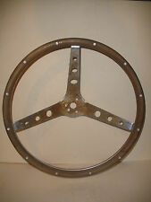 antique vintage steering woodwheel wood wheel 15""