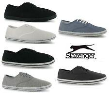 Slazenger Lace up Mens Canvas Pumps Plimsolls Shoes Trainers  Size: 6-12