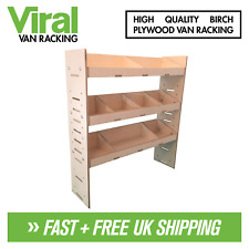 Ford Courier 2014+ Van Racking 3-Shelf Plywood Racking & Shelving 1000 x 269