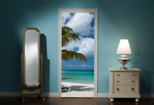 Door Mural Exotic Beach Sea View Wall Stickers Decal Wallpaper 192