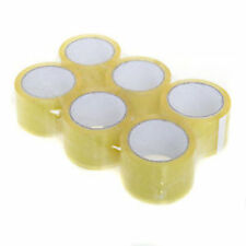 TOP QUALITY 6 CLEAR CELLOTAPE PACKAGING PARCEL TAPE 48mm x 50m new uk stock