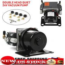60w Dual Head Micro Vacuum Pump Air Pump 400kpa Dc 24v Diaphragm Pump Black Usa