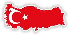 Truthahn Türkei LandKarte Flagge Aufkleber Silhouette Motorrad Auto Helm Laptop
