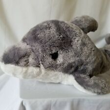 "Dolphin Stuffed Animal Plush 26"" Long Gray White Fiesta"