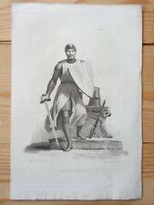ROBERT LE FORT Gravure ancienne XIXe Estampe Dessiné par Dupré Chevalier