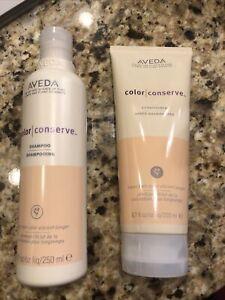 Aveda Color Conserve Shampoo And Conditioner 8.5 oz 6.7oz duo set 100% AUTHENTIC