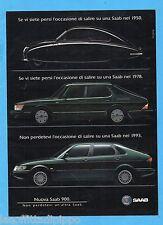 QUATTROR993-PUBBLICITA'/ADVERTISING-1993- SAAB 900