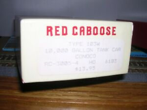 Red Caboose #RC-3005-4  Conoco 10,000 Gallon Tank Car #6183 KIT H.O.1/87