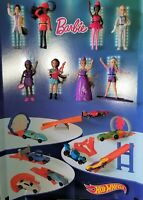 Hot Wheels + Barbie 2019 Edition McDonalds Happy Meal ALL Toys & Sets 1-16