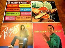 New listing Four Piece Lot Vinyl Records Porrazzo Harry Bealfonte Chet Atkins Ray Charles