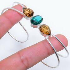 Indicolite Tourmaline 925 Sterling Silver Jewelry Cuff Bracelet Adst. 8360
