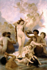 William-Adolphe Bouguereau The Birth of Venus Art Print Poster Poster, 13x19