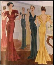 1939 Vintage Sewing Pattern B36 EVENING DRESS (R955R)