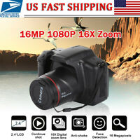 "Professional Digital Camera 2.4""Display 16MP 1080P 16X Zoom Full HD DVR Recorder"