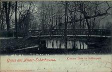 1900 Stempel Bernau Mark auf AK von Nieder-Schönhausen Brandenburg Krumme Birke