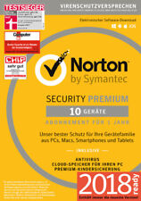 NORTON (Internet) SECURITY Premium 3.0 (2018) 10 Geräte 1 Jahr Download