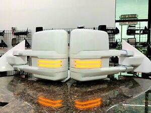 2014-18 Silverado / SierraTow Mirrors painted in Olympic White / Summit White