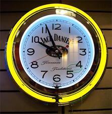 """2ND Hand tastet - 13"""" Jack Daniels Dual gelb N weiß Neon Uhr-Zugschnur/Adapt"""