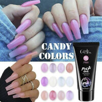 Candy Colors Poly Builder UV Gel Quick Building Nail Tips Finger Extension Gel