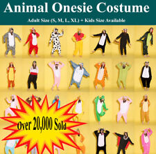 Adult Kids Fleece Unisex  onesie Kigurumi Animal Pajamas Costume Sleepwear