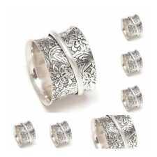 Wholesale lot 20 Ps Solid 925 Sterling Silver Spinner Ring Meditation Ring sr101