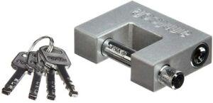 Am-Tech 70mm All Steel Shutter Lock - 4 Keys - Stainless Steel Shackle