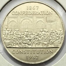1982 Canada 1 dollar - Constitution Commemorative 115 years - AU-53 Condition