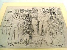 NOCES DE TOPAZE: 44 ANS DE MARIAGE - BEAU DESSIN D'AMOUR A L'ENCRE PAR BERTHOMME
