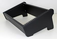 """Estudio De Escritorio 19"""" 6U Dual Ángulo Rack Pod caso del Gabinete Muebles Negro Con Textura"""