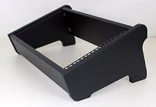 "19"" 6U Desktop STUDIO DUAL angolo Rack POD CASE Cabinet Mobili NERO RUVIDO"