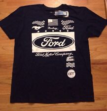 NEW SIZE XL Ford Motor Company Extra Large Blue Mustang GT Car Auto Logo