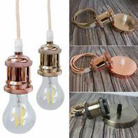 Vintage Edison Lampe Halter Retro Deckenlampe Pendelleuchte E27 Buchse Fassung