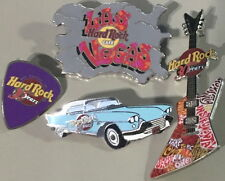 Hard Rock Cafe LAS VEGAS 2001 30th Anniversary 4 PINS (No CD Case) 30 Year #4541