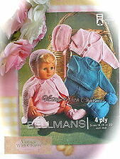 Vintage 70's Doll Clothes Knitting Pattern. 10 Piece Set For 16-20in. Baby Doll