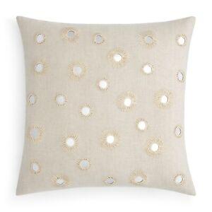 "John Robshaw 20"" Square Decorative Pillow Vasati NATURAL D0Z157"