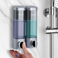 Bathroom Liquid Soap Dispenser Wall Mounted Shower Gel Detergent Shampoo Hotel