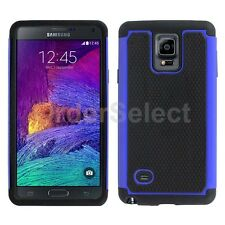 NEW Hybrid Rubber Hard Case for Android Phone Samsung Galaxy Note 4 Blue HOT!
