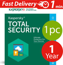 Kaspersky Total security 2017  ( 1 ) Pc-mac-android ( 1 ) year Worldwide