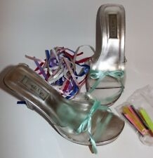 Touch Ups Clear Shoes size 9 Roxie 4 inch high heels Wedding Pageant Party Club