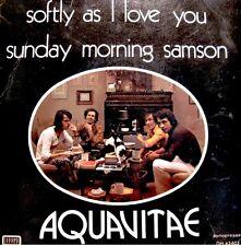 ++AQUAVITAE softly as i love you/sunday morning samson SP DHARMA RARE++