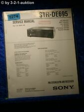 Sony Service Manual STR DE695 FM/AM Receiver (#5274)