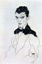 Egon Schiele Reproductions: Self Portrait - Fine Art Print