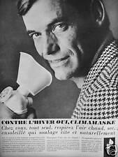 PUBLICITÉ 1964 CLIMAMASKE CONTRE L'HIVER CHEZ VOUS SEUL RESPIREZ L'AIR CHAUD