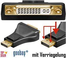 Displayport Adapter DVI-I 24+5 Buchse auf 20-pol. DP-Stecker von goobay®