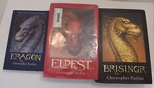 Eragon Series by Christopher Paolini (Lot of 3, Books 1-3)