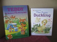 THE FUZZY DUCKLING and TEDDY AND THE MYSTERY OF THE MISSING MILK - LOT OF 2 BKS