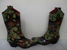 Corkys Multi Color Rubber Cowboy Rain Boots Womens Size 6 US 36 EUR